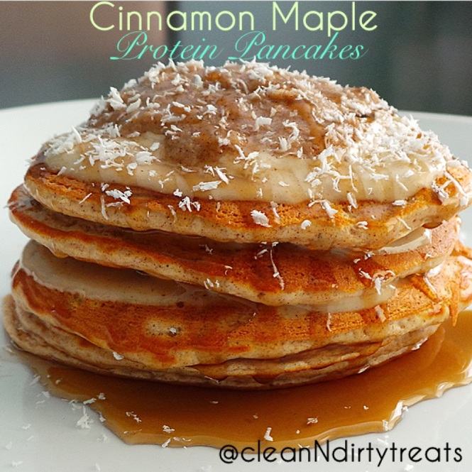 Cinnamon Maple Protein Pancakes