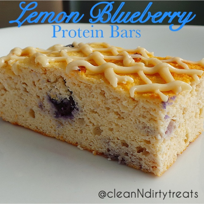 Lemon Blueberry Protein Bars