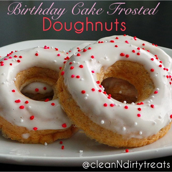 Birthday Cake Frosted Doughnuts!