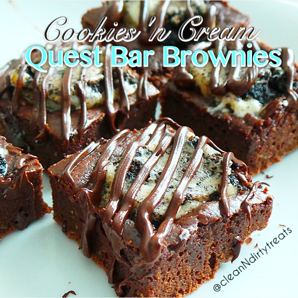 cookies n cream quest bar brownies