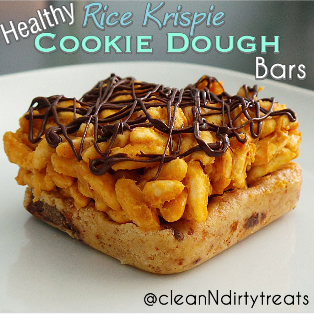 Healthy Rice Krispie Cookie Dough Bars!
