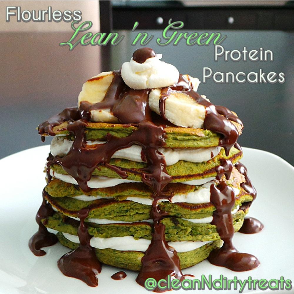 Flourless Lean 'n Green Protein Pancakes
