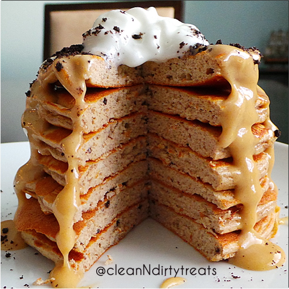 Cookies N Peanut Butter Cream Protein Pancakes