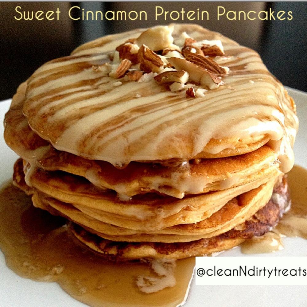 sweet cinnamon protein pancakes