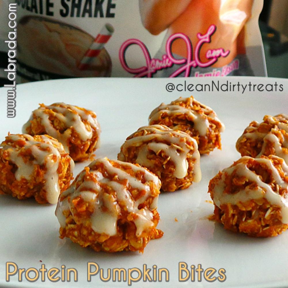 Protein Pumpkin Bites with Jamie Eason Whey Isolate