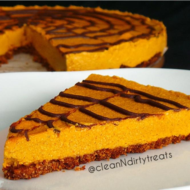 Guilt Free Pumpkin Protein Cheesecake