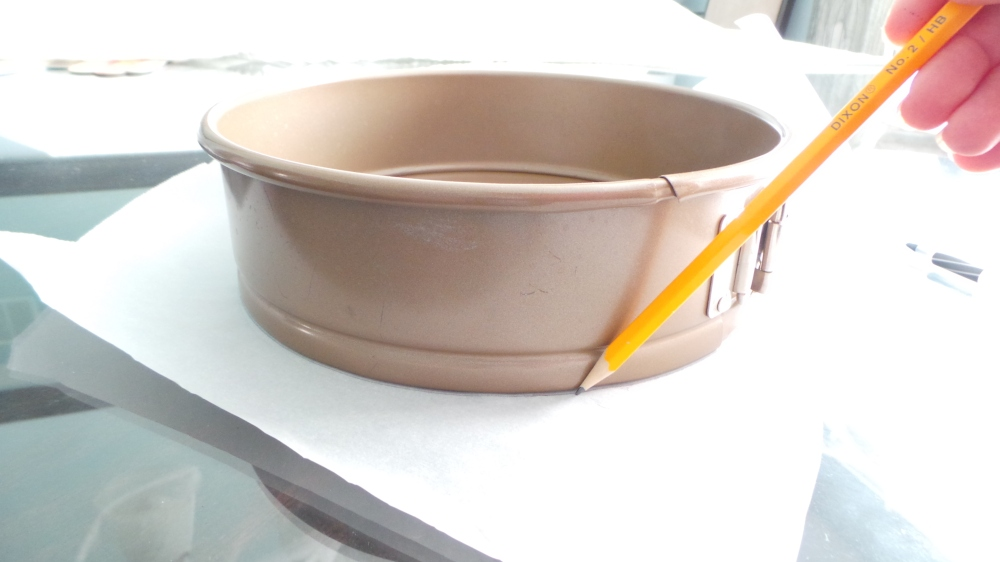 Line Pan with parchment paper