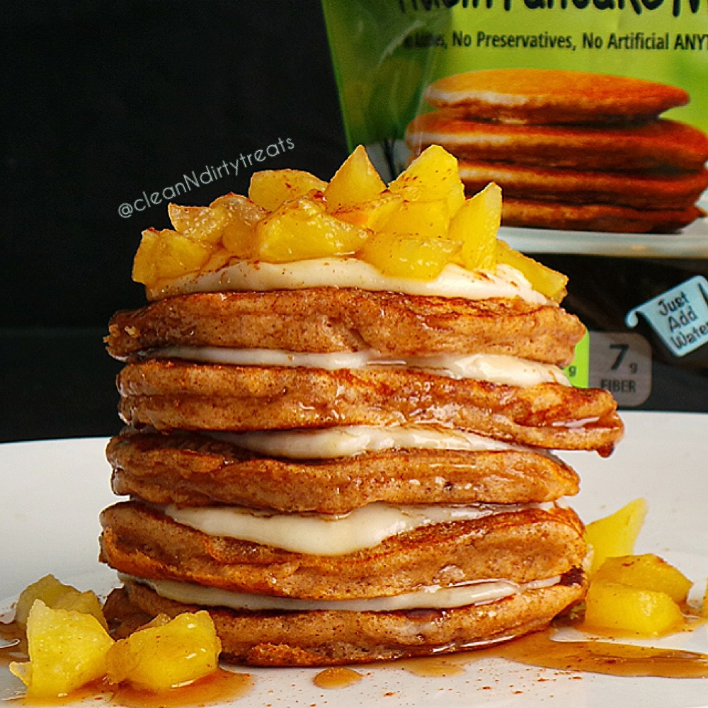 flapjacked apple cinnamon protein pancakes