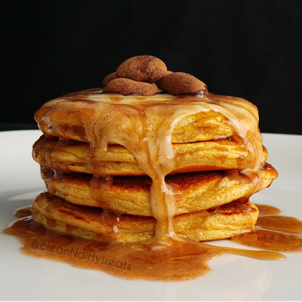 Cinnamon Roll Protein Pancakes