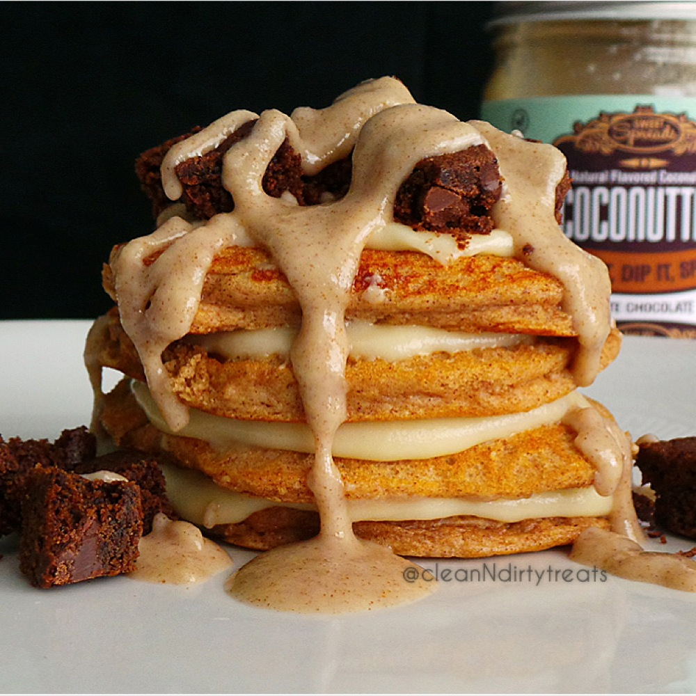 Protein Pancakes with White Chocolate Coconutter & Chocolate Cookie