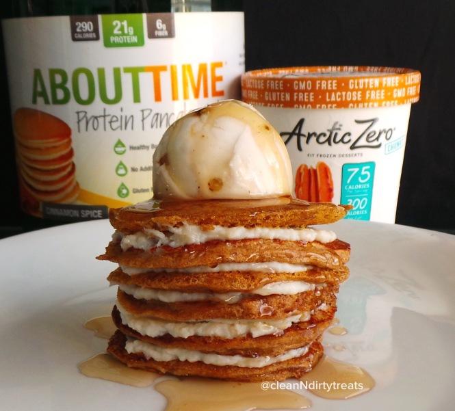 Cinnamon Spice Protein Pancakes with Arctic Zero