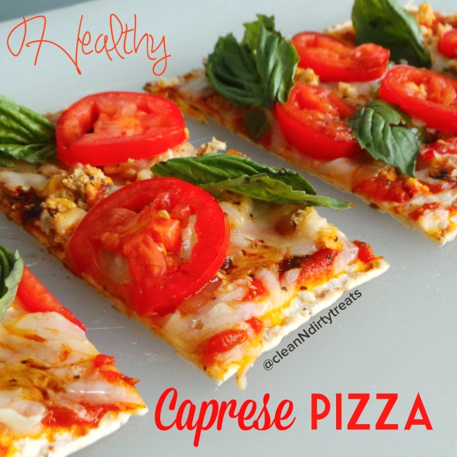 Healthy Caprese Pizza