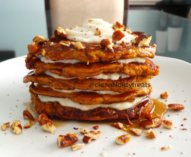 Low Carb Pumpkin Protein Pancakes with About Time Protein
