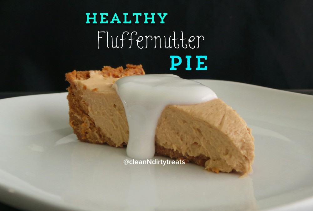 Healthy Fluffernutter Pie